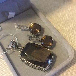 Jewelry - So beautiful smoky quartz set 925
